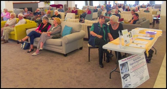Members and residents enjoying the concert