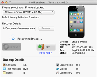 How to Recover iPhone Text Message using Text Saver
