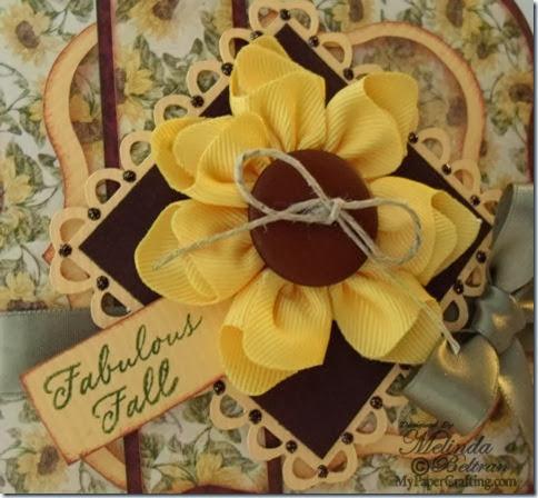sunflower ribbon card CTMH sentiment 480