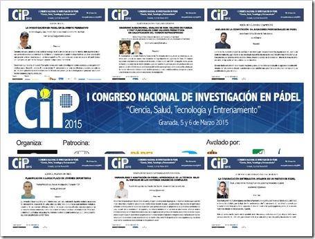 Algunos técnicos participantes en el I Congreos Nacional de Investigación en Pádel Granada Marzo 2015