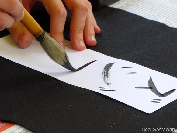 Contoh Seni Rupa Murni kaligrafi