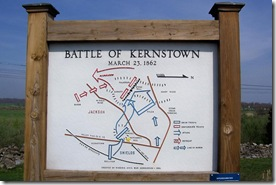 Battle of Kernstown Map grouped with state marker A-9