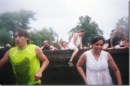 Camp Pendleton Mud Run wall obstacle