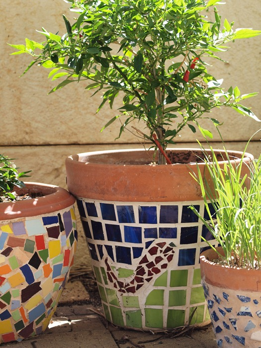 mosaic pots