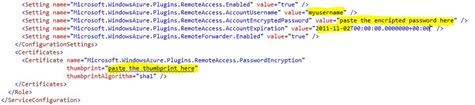 Service configuration file