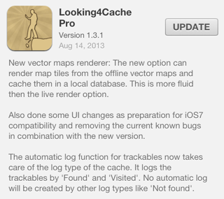 Looking4Cache version 1.3.1 for iOS