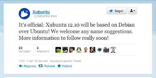 Xubuntu 12.10 si baserà su Debian?