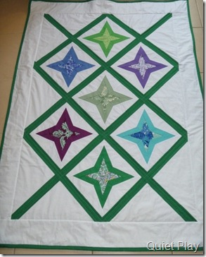 Diamond star quilt