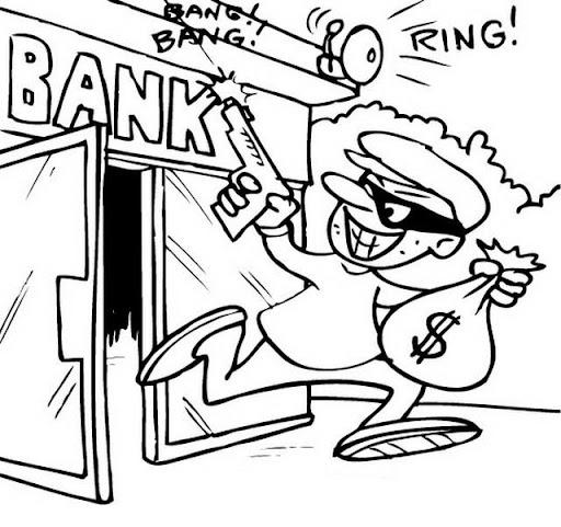 Bancos Para Dibujo Dibujos de Ladrones Para