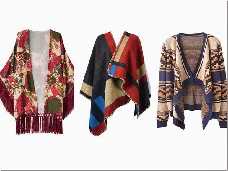 Ponchos y kimonos