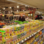 shopping at the vomar supermarket in Oud-IJmuiden, Noord Holland, Netherlands