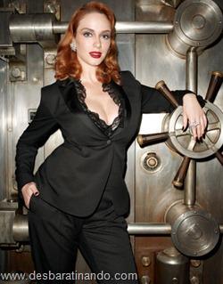 Christina Hendricks linda sensual sexy sedutora decote peito desbaratinando (1)