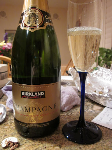 We started with Brut Champagne - the real stuff, made in France - but found it a little disappointing, even at $19.99.  For the same price or just slightly more, you can do better.