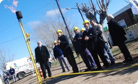 """Se inaugura """"extensión de red de gas"""" en Mar del Tuyú"""
