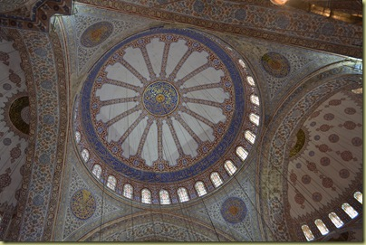 Istanbul Blue Mosque Dome inside