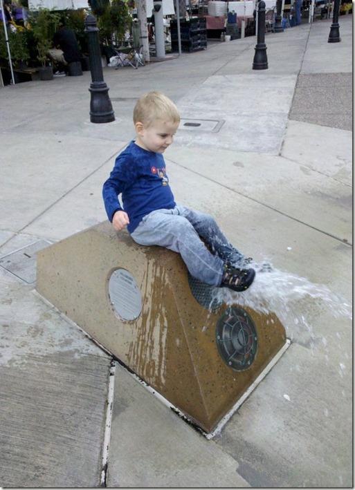 Isaac doing his thing!