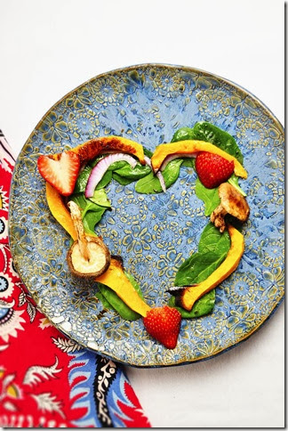 Valentines Day heart shaped salad