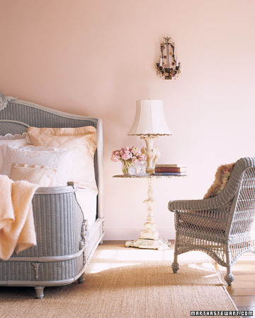 This is the ideal guesthouse bedroom -- awash in pink.