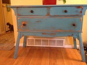 cute blue table