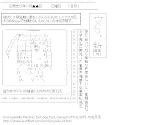 [AA]筒隠月子 新聞 (変態王子と笑わない猫。)