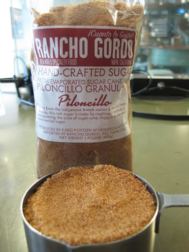 We made the butterscotch pudding in studio and used this dark-brown sugar sent to us by Steve Sando of Rancho Gordo.