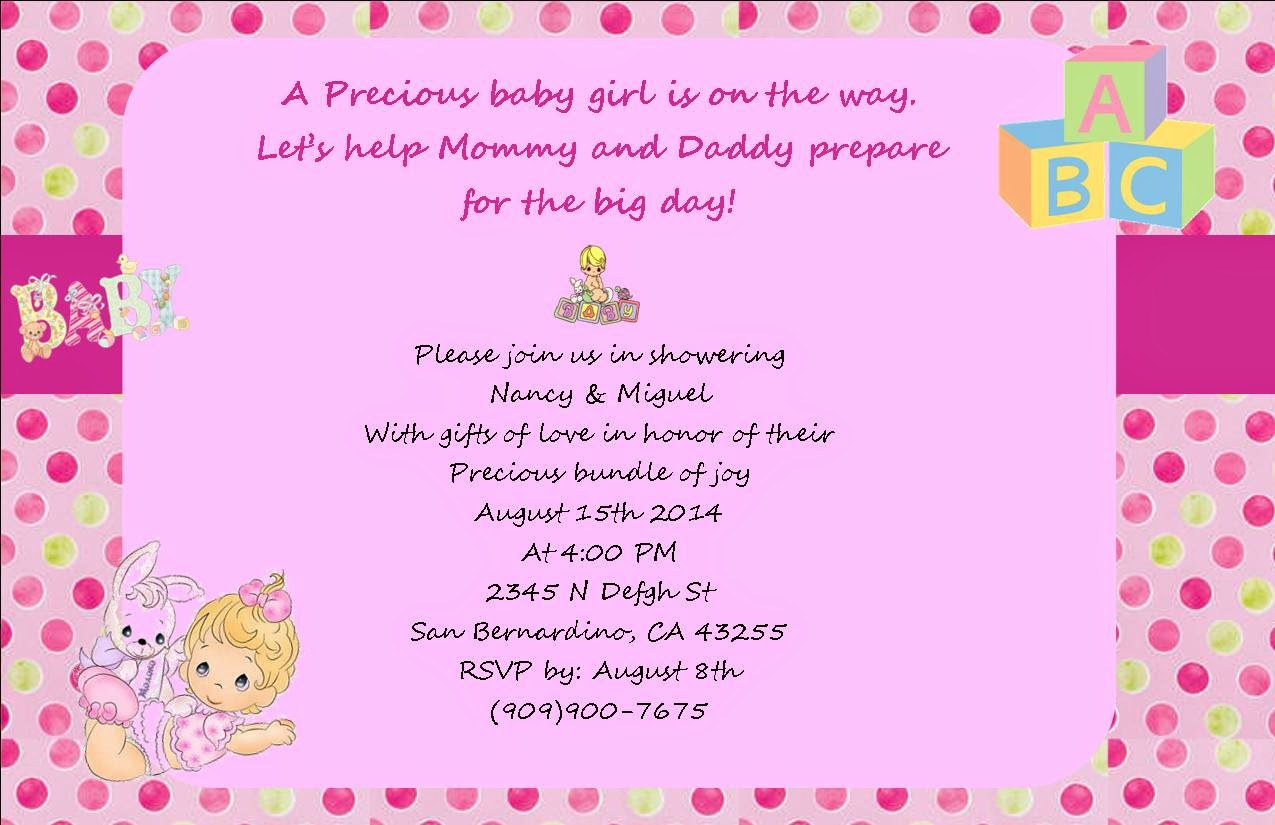 claudia s event creations it s a girl baby shower sample templates