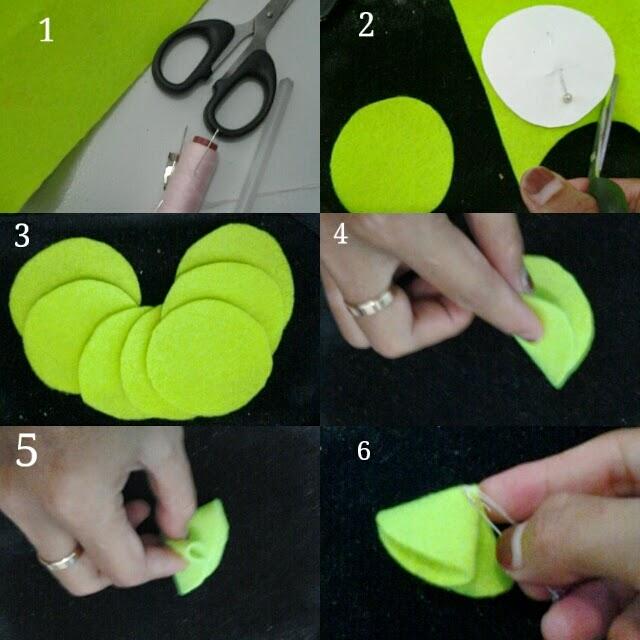 kerajinan lit dan cara pembuatan cara membuat bros bunga