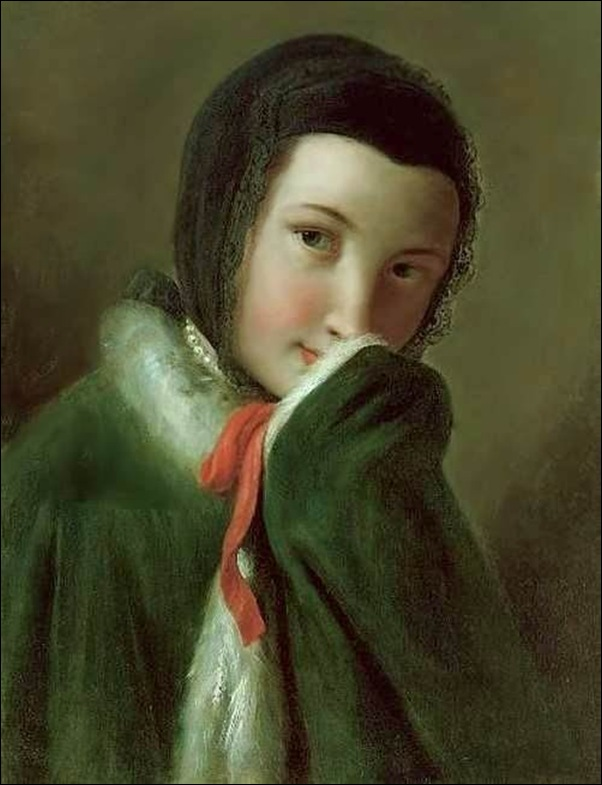 Rotari, Jeune fille au ruban rouge
