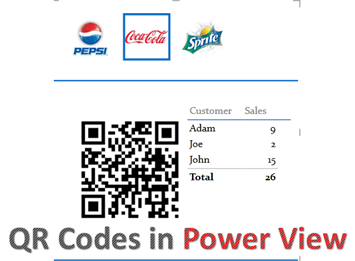 QR Codes in Power View