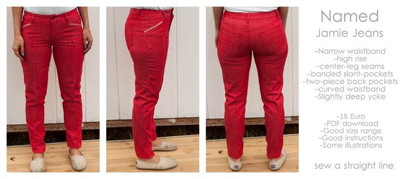 named jamie jeans 1 sew a straight line
