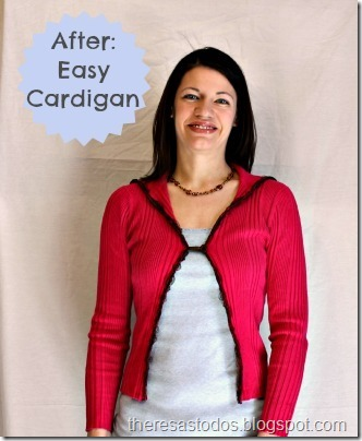 Turtleneck to Cardigan Refashion