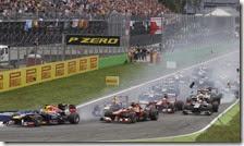 La partenza del gran premio d'Italia 2013