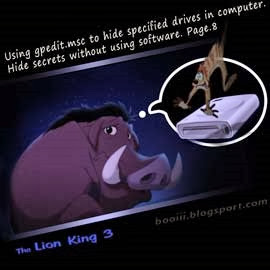 Using gpedit.msc to hide specified drives in computer (the lionking3)