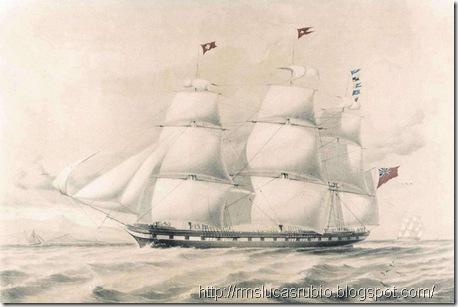 O belíssimo e gigante RMS Tayleur da White Star Line