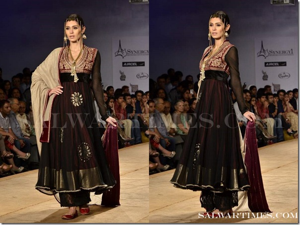 Anju_Modi_Black_Designer_Salwar_Kameez