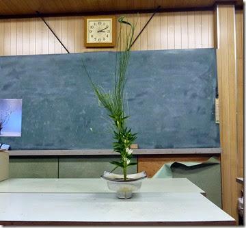 【生花二種生け】石化柳、リンドウ