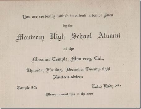 Alumni Dance 1916