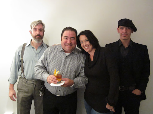 Richard, Julie, and Dushan gathered in studio with Emeril.