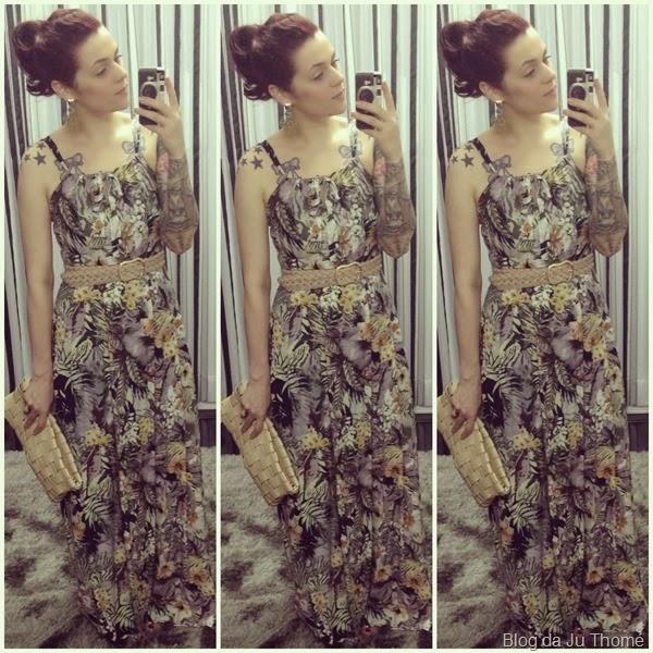 look vestido longo e camisa amarrada (1)