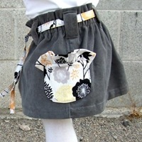 Ruffle Pocket Paper Bag Skirt