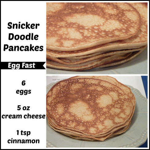 Egg Fast Recipe: Snicker Doodle Crepes/Pancakes