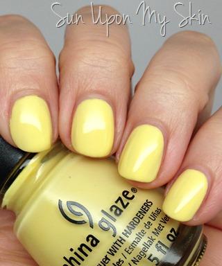 China Glaze Sun Upon My Skin nail polish