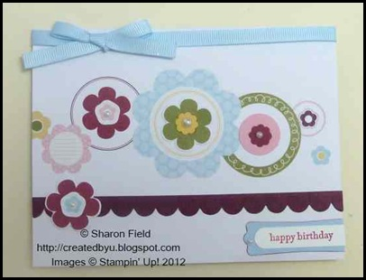 Clean and simple great day card kit sample by Sharon Field