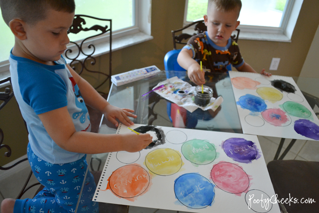 Teaching Colors with Watercolors by Poofy Cheeks