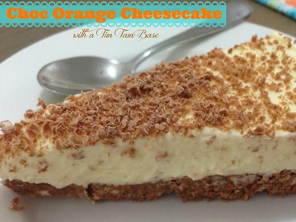 Choc Orange Cheesecake with a Tim Tam Base {RECIPE}