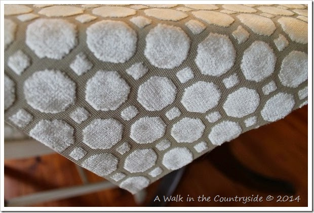 neutral chenille raised fabric for dining room chairs
