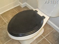 DIY Black Toilet Seat