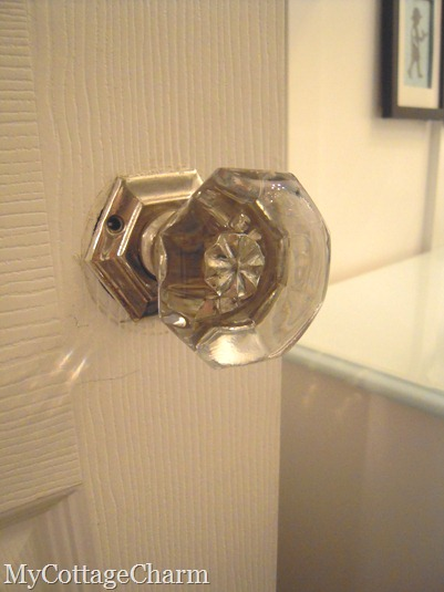 glass door knob from 1916 house