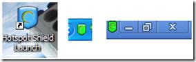 Hotspot Shield Free icone di gestione