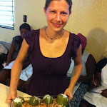 Melissa Teaching at the Heartline Ministries - Haiti - Cooking School